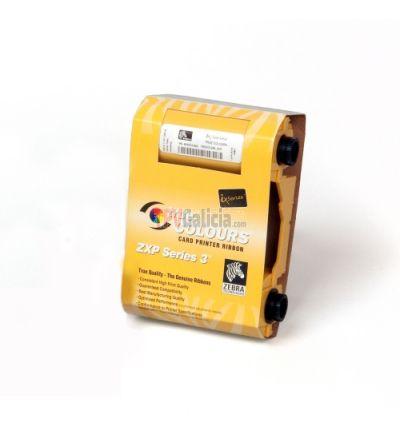 Ribbon Monocromo NEGRO High Capacity - ZEBRA True Colours para impresoras de tarjetas ZXP SERIES 3 - 2000 impresiones por rollo