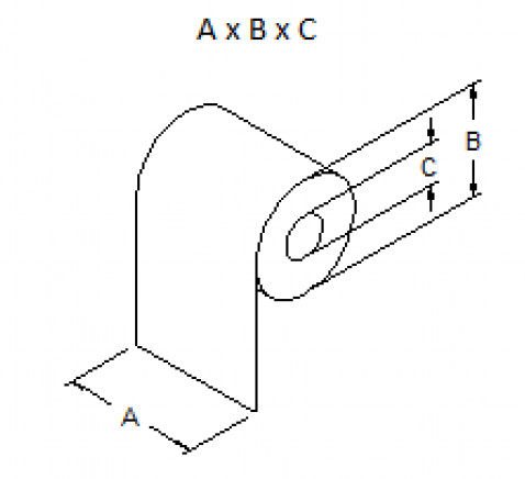 Caja de 50 rollos de papel térmico 62 x 85 x 40 mm