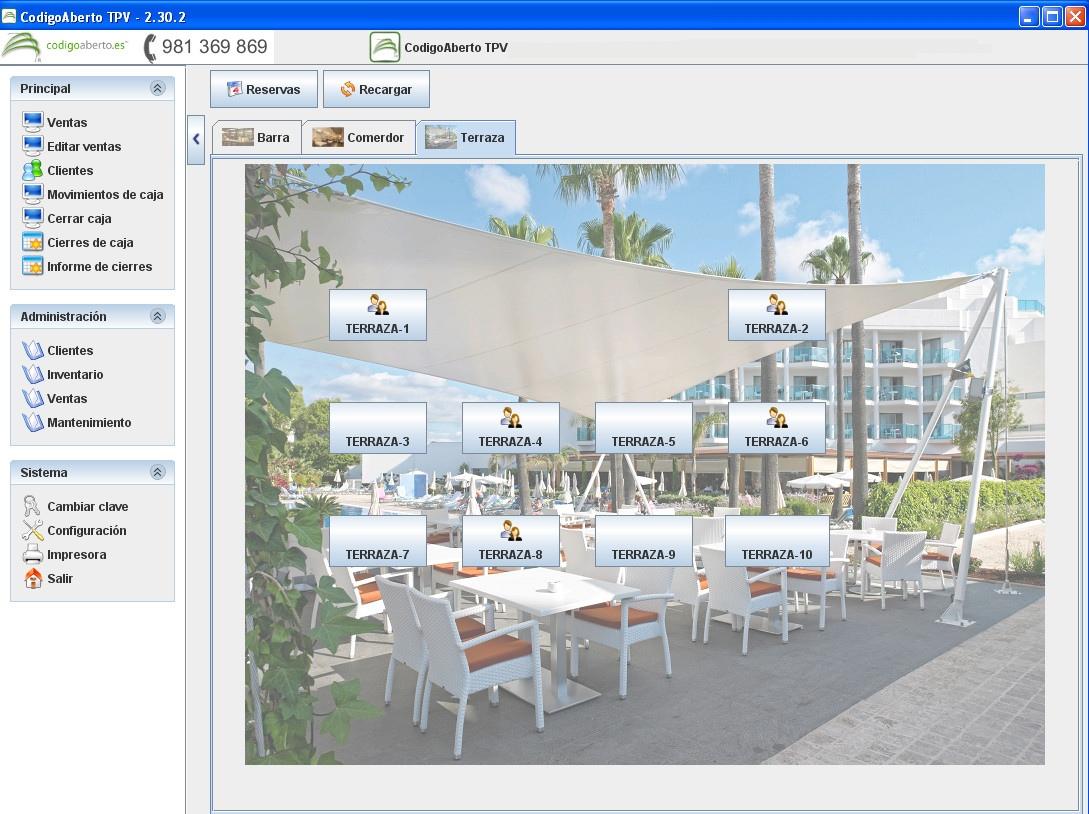 Pack TPV Galicia-ECO-PLUS completo con software CodigoAberto para Hostelería